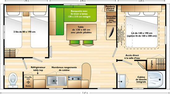Mobile home Mercure Mobile-home 2 chambres à Argelès sur Mer : 1415620486.plan_s.mercure_08.jpg